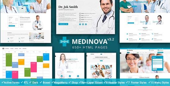 medical website templates