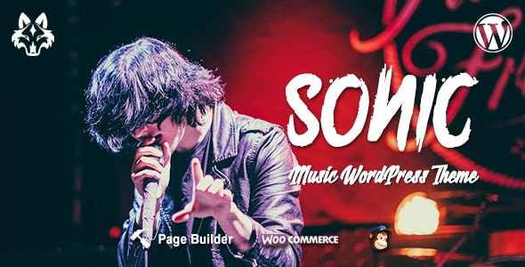 Sonic - Responsive WordPress Theme for the Music Industry - Music and Bands Entertainment