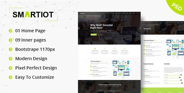 SmartIOT || Corporate PSD Template - Business Corporate