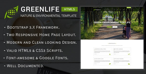 Greenlife - Nature & Environmental Non-Profit HTML5 Template - Environmental Nonprofit
