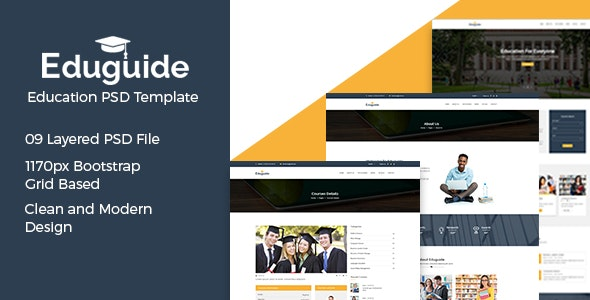 Eduguide - Education PSD Template - Corporate PSD Templates