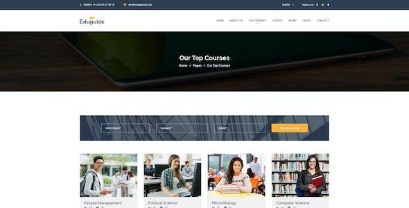 Eduguide - Education PSD Template