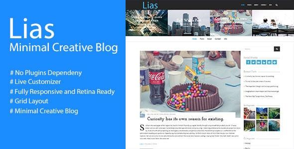 Lias - Minimal Creative Blog - Personal Blog / Magazine