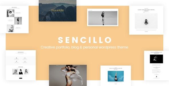 SENCILLO - Creative Portfolio/Blog/Personal WordPress Theme - Creative WordPress