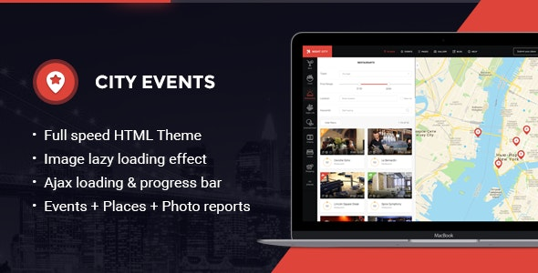 CityEvents - Highly-Optimized AJAX and AMP-Ready Directory Template - Events Entertainment