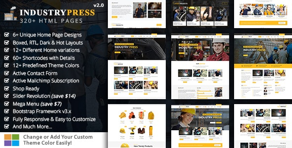 IndustryPress - Factory & Industry HTML - Business Corporate