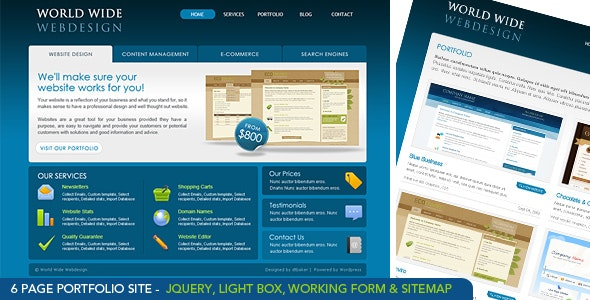 World Wide Webdesign - 6 Page HTML - Technology Site Templates