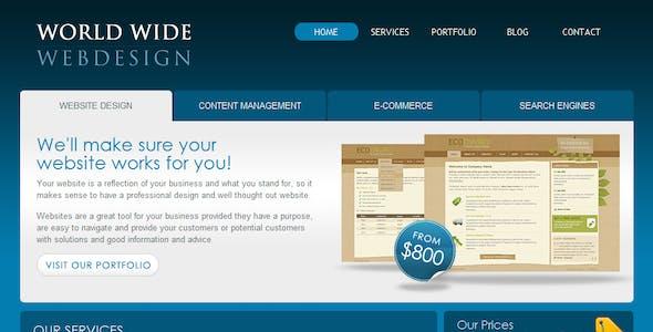 World Wide Webdesign - 6 Page HTML