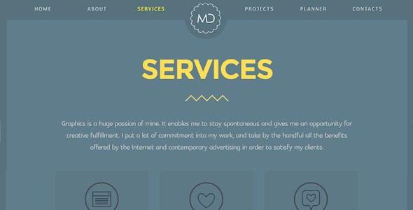 MD - Multipage HTML Portfolio Template