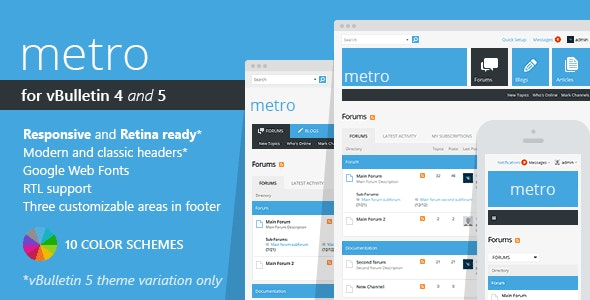 Metro - A Theme for vBulletin 4 and 5 - vBulletin Forums