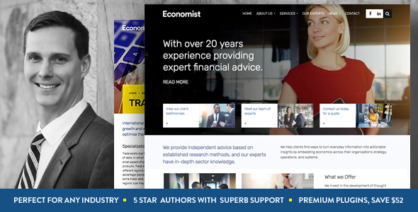 Economist - Business and Finance WordPress Theme - Business Corporate