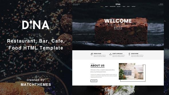 Dina - Restaurant, Bar, Cafe, Food HTML Template - Restaurants & Cafes Entertainment