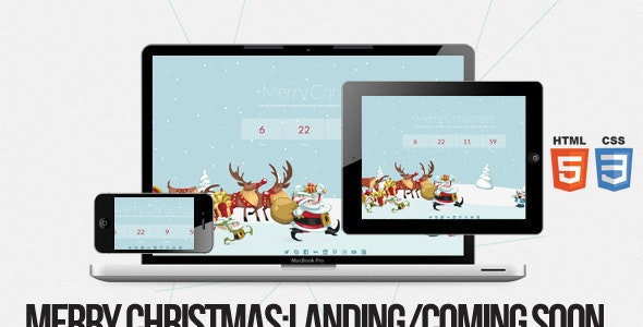 Merry Christmas - Illustrated/Animated LESS Theme - Specialty Pages Site Templates