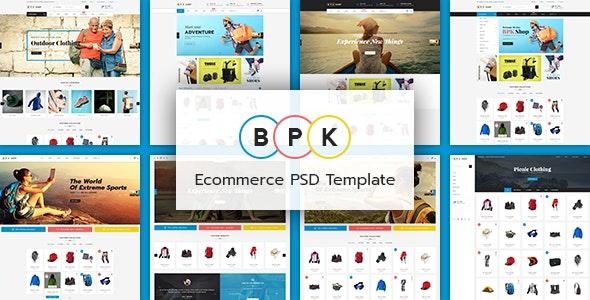 BPK Shop - Ecommerce PSD tempate - Shopping Retail