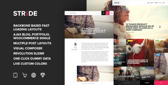 Stride - BackBone QuickLoad Grid Magazine Theme - Blog / Magazine WordPress
