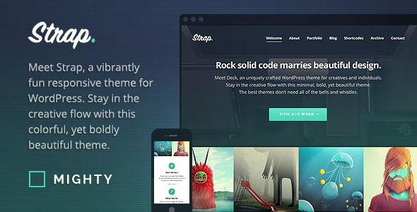 Strap - WordPress Theme - Portfolio Creative