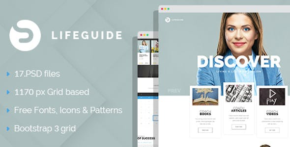 LifeGuide - Personal Page PSD Template