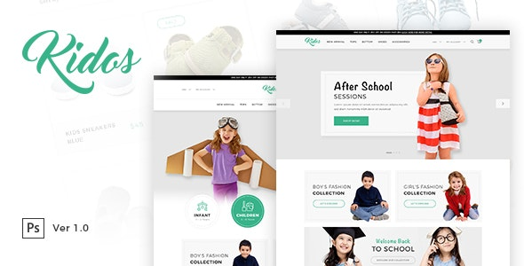 Kidos - Kids Clothing eCommerce PSD Template - Fashion Retail