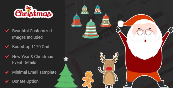 Christmas & New Year PSD Template - Entertainment PSD Templates