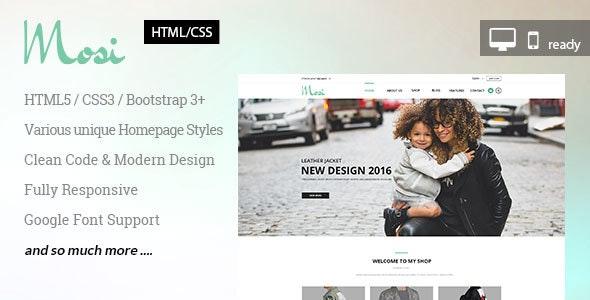 MOSI Responsive Multi-Purpose HTML Template - Site Templates