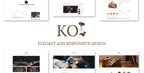 KOI Fashion Store and eCommerce Multi-Purpose PSD Template - Photoshop UI Templates