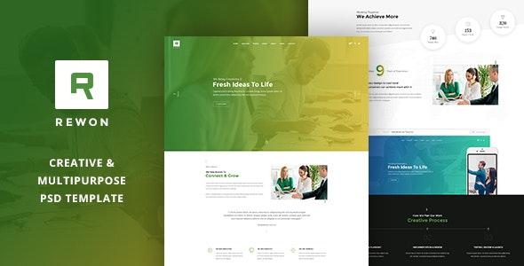REWON - Multipurpose PSD Template - Business Corporate