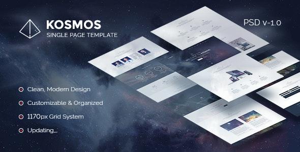 Kosmos - Single Page PSD Template - Creative PSD Templates