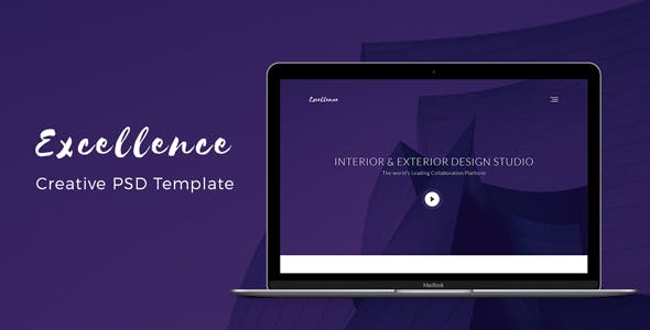 Excellence - Architecture Landing PSD Template