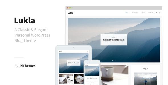 Lukla - A Responsive WordPress Blog Theme - Personal Blog / Magazine