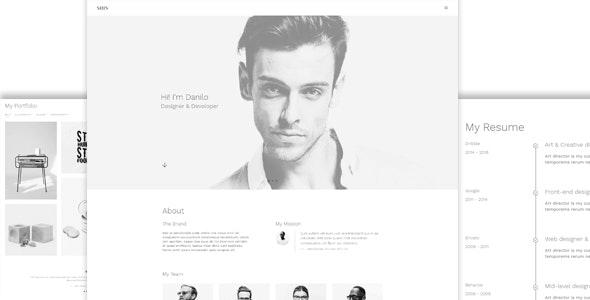 Shin Onepage Personal Portfolio - Personal Site Templates