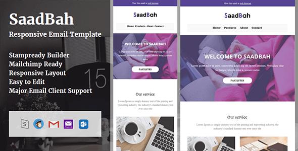 SaadBah - Responsive Email Template + Stampready Builder