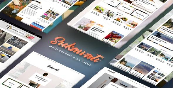 Sukawati - MultiConcept WordPress Blog Theme - Personal Blog / Magazine