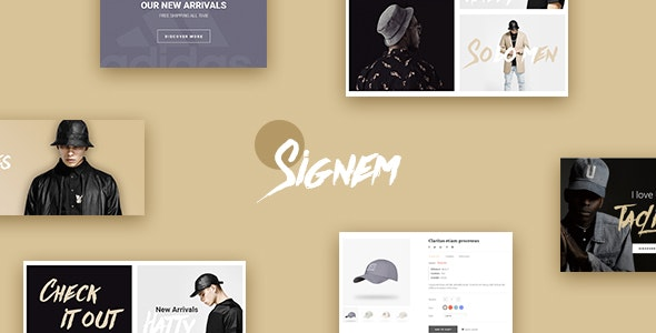 Leo Signem - eCommerce PSD Template - Retail Photoshop