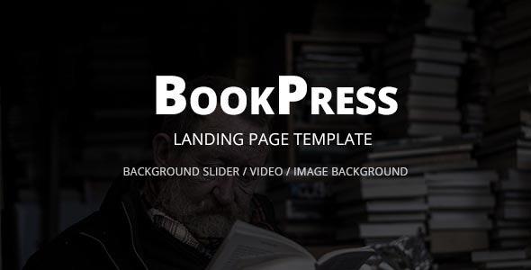 BookPress Landing Page Template - Marketing Corporate