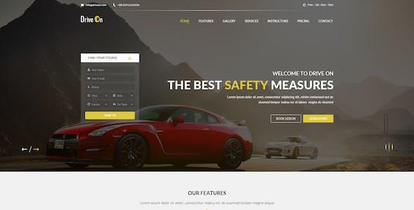 DriveOn - Driving School PSD Template