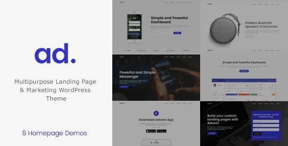 Advent - WordPress Marketing & Landing Page Theme - Marketing Corporate