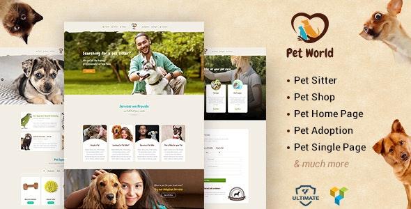 Pet World - Kittens, Birds & Animal Care WordPress Theme - Creative WordPress