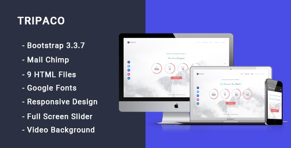 Tripaco - Responsive Coming Soon Template - Under Construction Specialty Pages