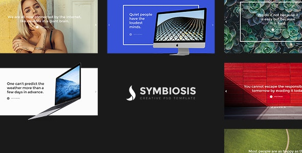 Symbiosis - Creative PSD Template - Creative PSD Templates