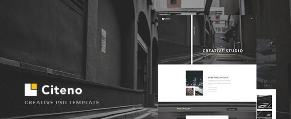Citeno - Creative PSD Template - Creative Photoshop