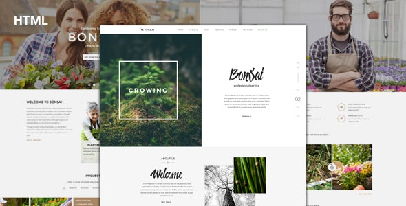 Bonsai - Responsive HTML Template for Landscapers & Gardeners - Business Corporate