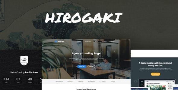 Hirogaki - Multipurpose Landing Page WordPress Themes - Marketing Corporate