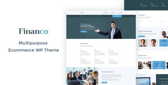 Financo - Finance & Investment WordPress Theme - Business Corporate
