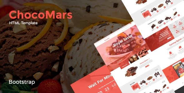ChocoMars - E-commerce Bootstrap Template - Food Retail