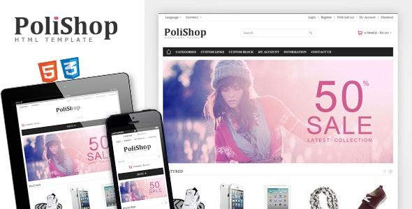 Polishop - Responsive eCommerce Html Template - Retail Site Templates