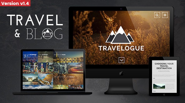 Travelogue - Travel Blog HTML Template - Photo Gallery Personal