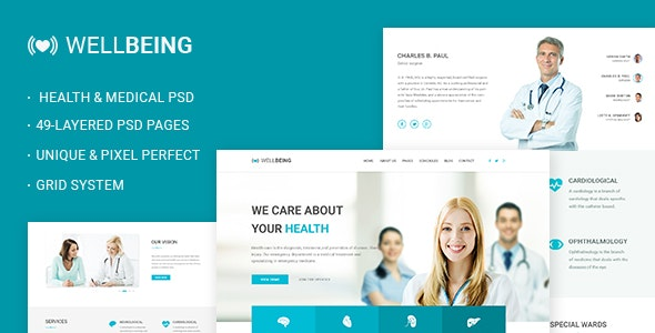 Well Being - Health & Medical PSD Template - Business Corporate
