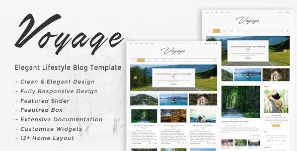 Voyage - Elegant Lifestyle Blog Template - Personal Site Templates