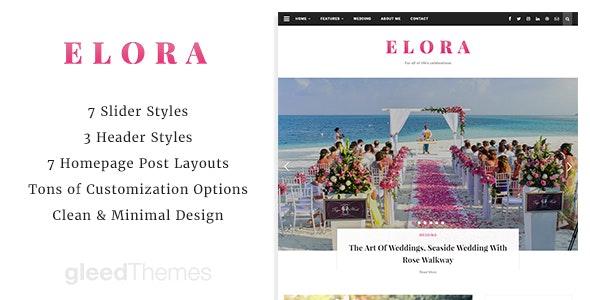 Elora - Clean & Modern WordPress Blog Theme - Personal Blog / Magazine