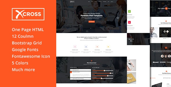 Cross - One Page Multipurpose HTML Template - Creative Site Templates